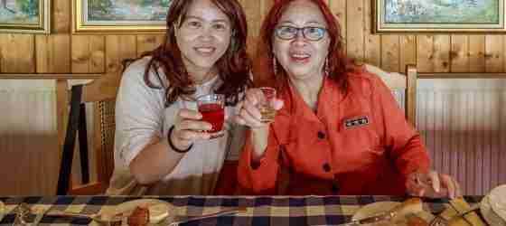 Cheering with Romanian liquors