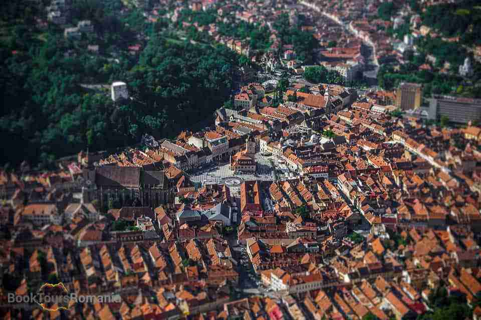 Brasov view from the mountain