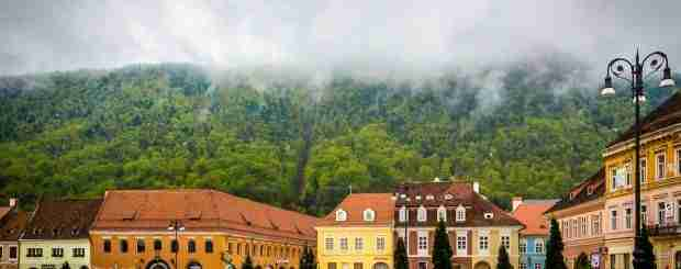 The council square of Brasov on a cloudy day