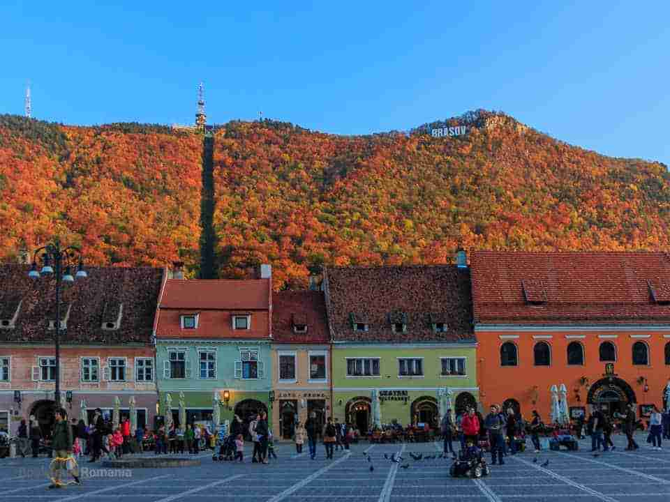 October in Brasov old town