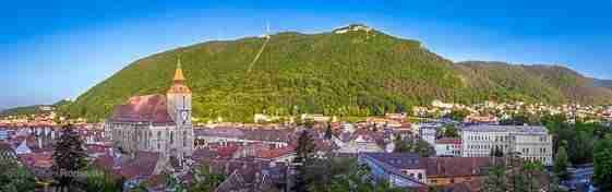 Panorama over Brasov and Tampa mountain