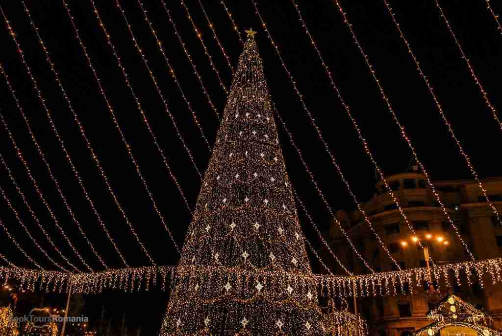 Christmas tree in Bucharest