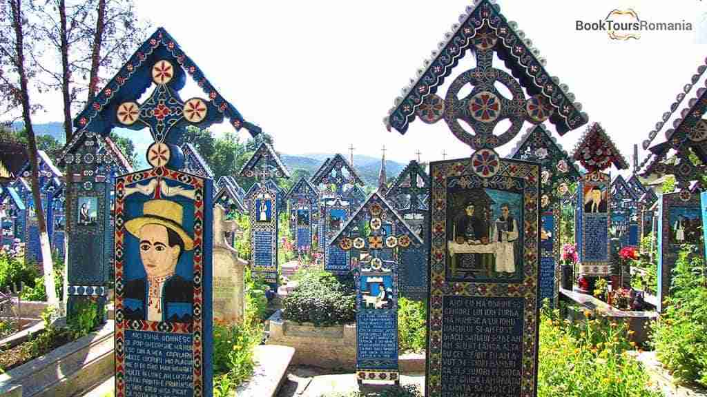 The unique Merry Cemetery