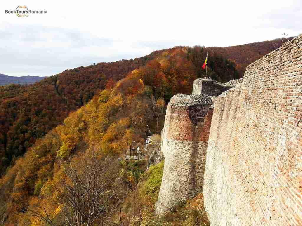 Landscape from Poenari Castle - the real Dracula Castle