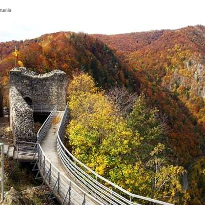 Landscape from Poenari Castle - the real Dracula Castle