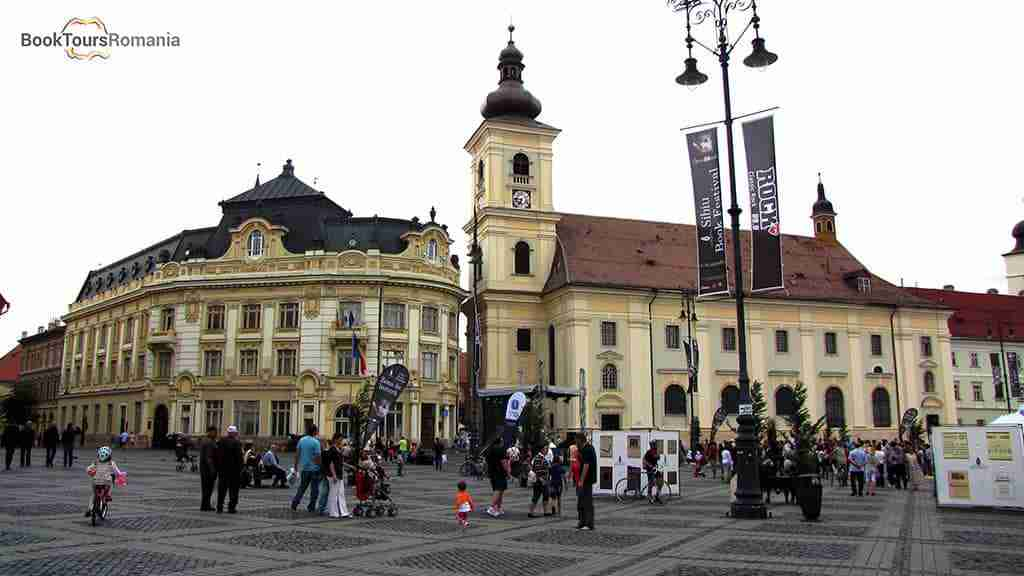 The Big Square of Sibiu and the Catholic church