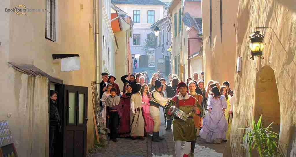 Medieval festival in Sighisoara, Transylvania