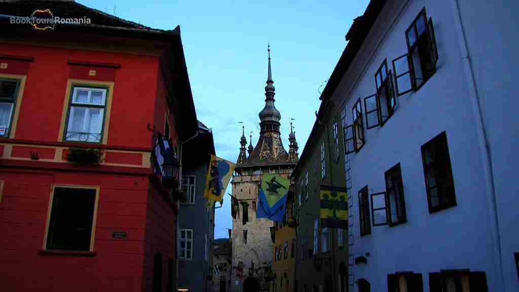 View to the Clock Tower of Sighisoara