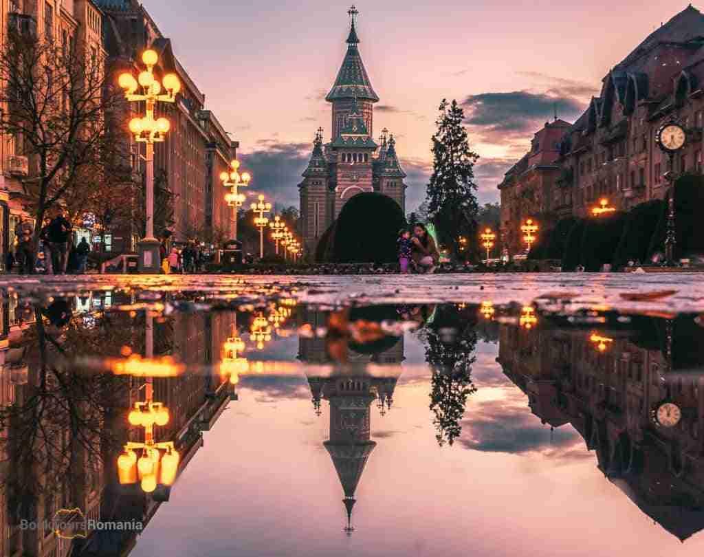 Liberty Square in Timisoara
