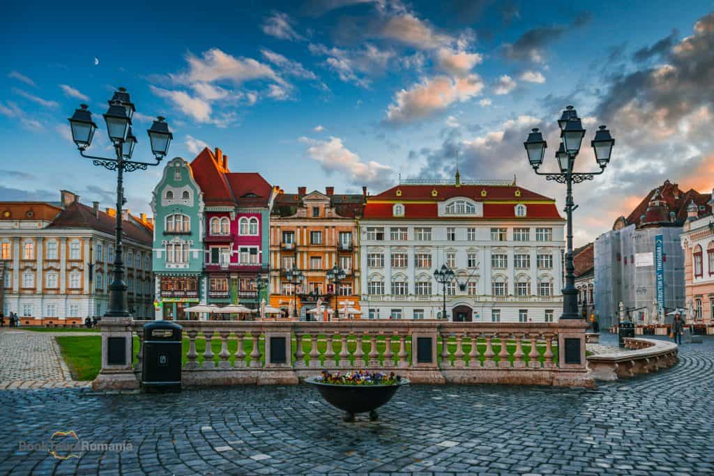 The Union Square in Timisoara