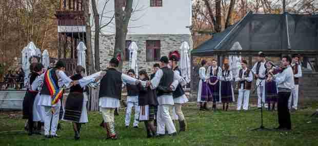 Folk dancing at the Village Museum