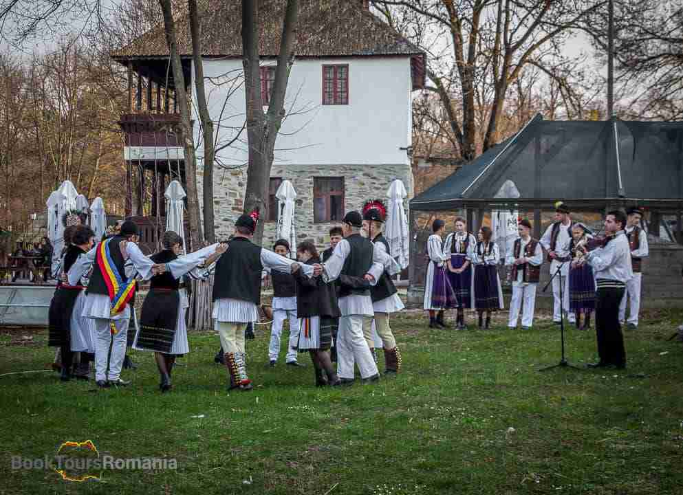 Folk dancing at the Village Museum